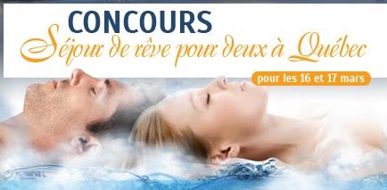 CONCOURS Gagnez un séjour de rêve pour deux à Québec